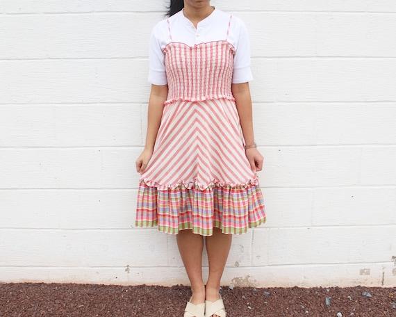 Frill Peasant Dress Gunne Sax Prairie Dress - image 7