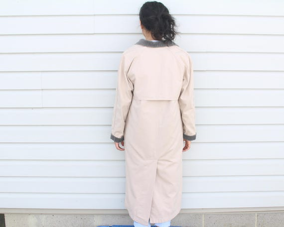 Dusty Pink Longline Trench Coat - image 9