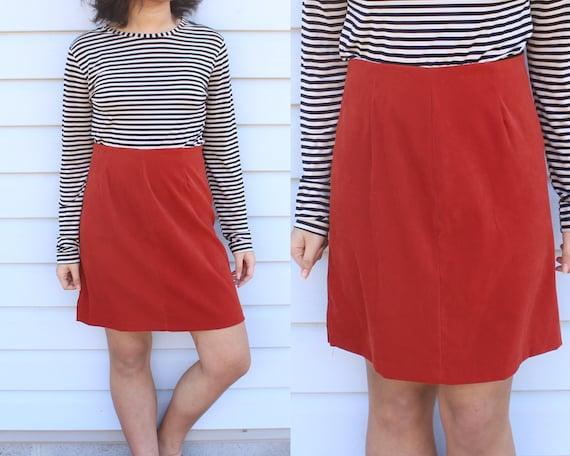 Rust Red Skirt