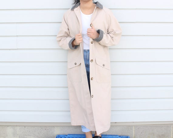 Dusty Pink Longline Trench Coat - image 7