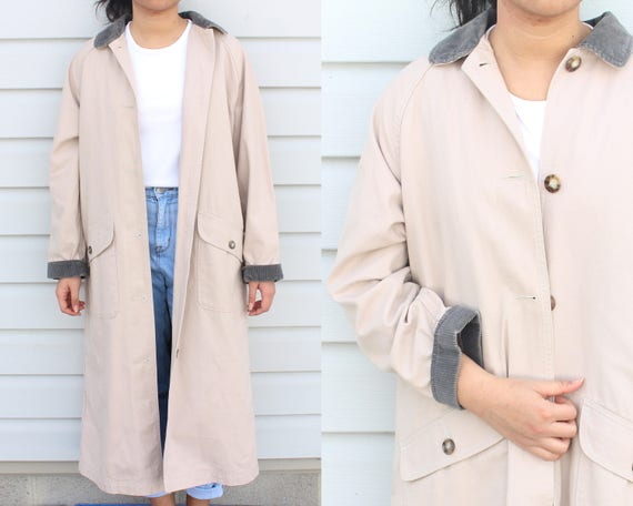 Dusty Pink Longline Trench Coat - image 1