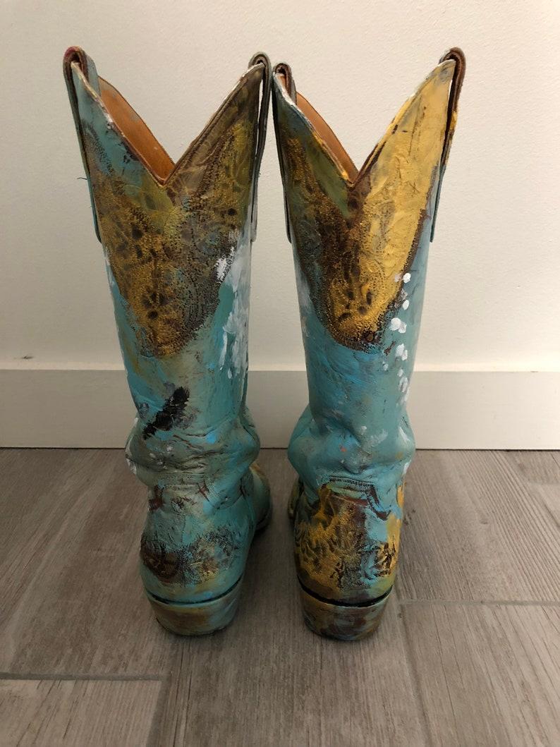 438a2e2d473 Franco Mondini-Ruiz one of a kind hand painted cowboy boots