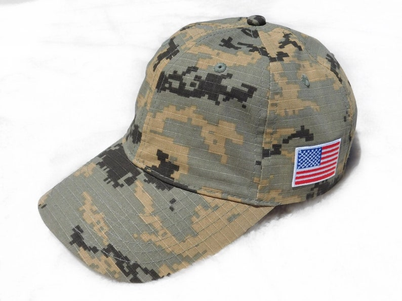 1907fb1b852e2 American Flag Hat Camo Dad Hat USA Hat Camouflage Baseball