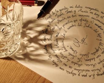 Custom Hand Written Calligraphy - Poem/Quote/Excerpt