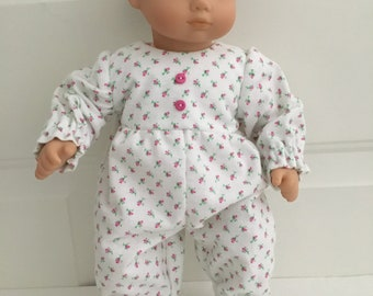 Pink Flower Sleeper Sack 15 in Baby Doll Clothes Fits American Girl