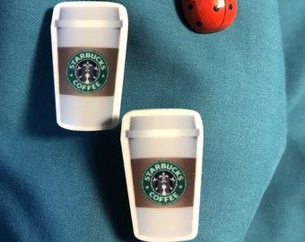 7f5419ed0 STARBUCKS Star Bucks Classic To-Go Cup Hot Coffee Clog Shoe Charms