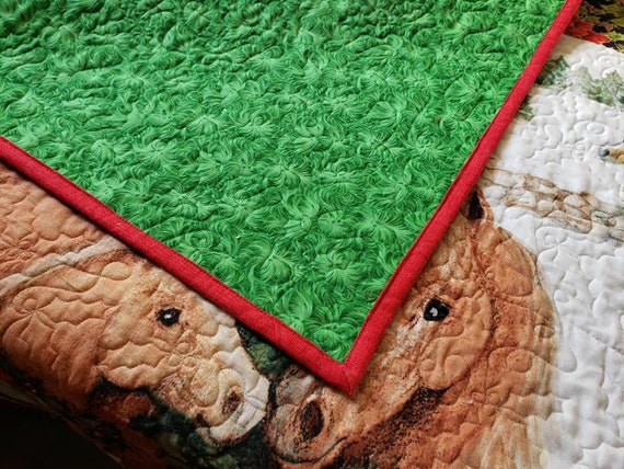 Quilted Christmas LapThrow Wall Quilt
