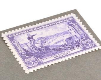 Pack of 25 Unused Battle of Brooklyn Stamps - 3c - Vintage 1951 - Unused Postage - Quantity of 25