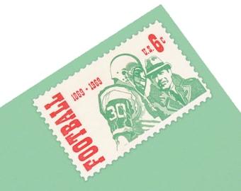 Pack of 25 Unused Football Stamps - 6c - Vintage from 1969 - Unused Postage - Quantity 25 - Sports