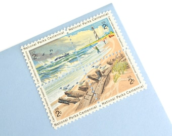 Pack of 24 Unused Beach Stamps - 2c - Vintage 1972 - National Park Centennial Postage - Quantity of 24
