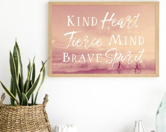Motivational Print - Inspirational Print - Teen Room Decor - Teenage Girl Room - Home Office Artwork - Cubical Decor - Cute Office Decor