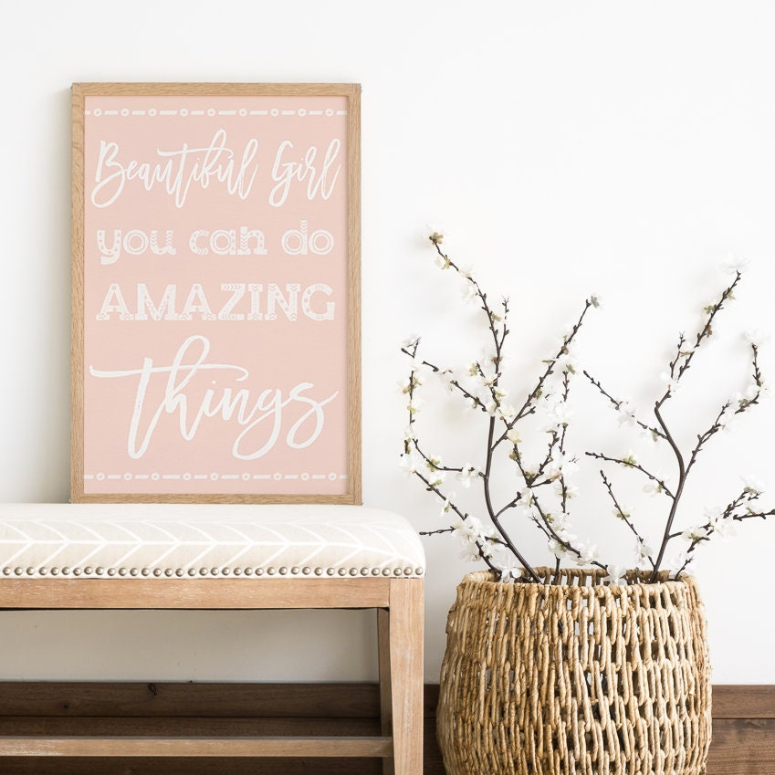 Do Amazing Things: Beautiful Girl You Can Do Amazing Things Gift For Daughter