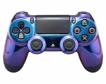 New Sony Playstation Dualshock PS4 Wireless Controller Custom Chameleon Design
