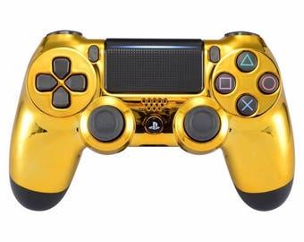 New Sony Playstation Dualshock PS4 Wireless Controller Custom Chrome Gold