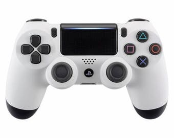 New Sony Playstation Dualshock PS4 Wireless Controller Custom Soft Touch White