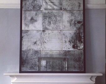Extra Large Distressed  / Antiqued glass mirror in any finish by MyOldMirror.co.uk