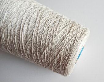 linen natural 3ply yarn thick yarn linen thread crochet yarn Linen gold ocher yarn