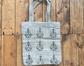 2add807ce handmade organic HEMP Tote Bag - SIGIL screen-print by EQ.369