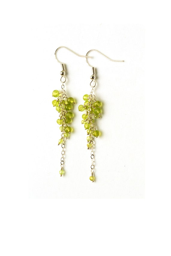 Birthstone Clip on Earrings for Girls Crystal Fashion Oval Drop Asymmetrical Earring