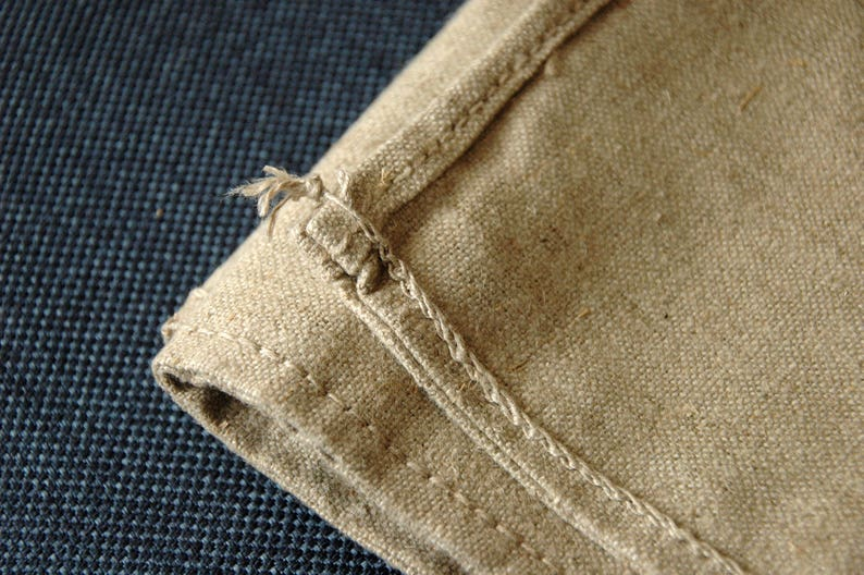 Antique Linen Sack Thick Canvas Upholstery Fabric Fabric for Pillows Linen Sack Vintage Grain Sack Unused Linen Fabric