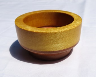 Hand-Turned Ashtray - Yellowheart and Black Cherry