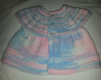 Hand knit baby top
