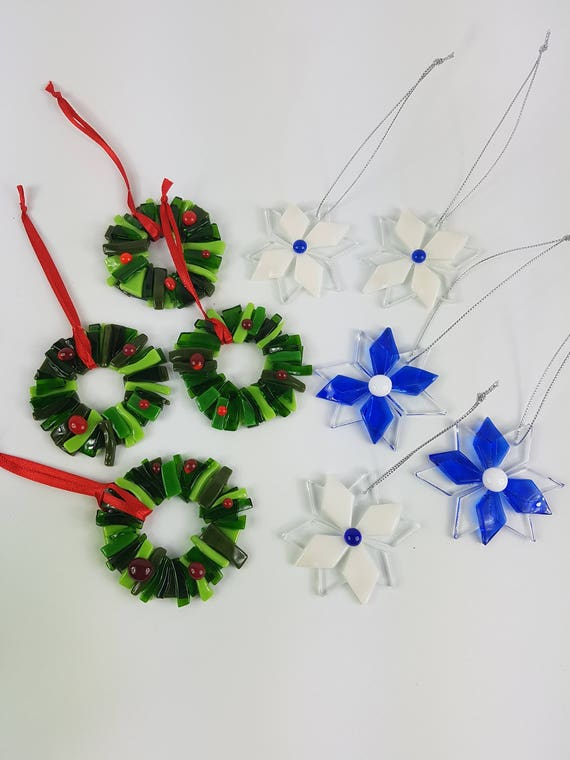 image 0 - Fused Glass Christmas Ornaments
