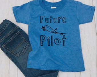 bdd7b507c Future Pilot Shirt, Pilot kid, Airplane, Pilot in training, Kids Pilot Shirt,  Boys Airplane Shirt, Aviation, Airplane Party, Kids Plane Tee