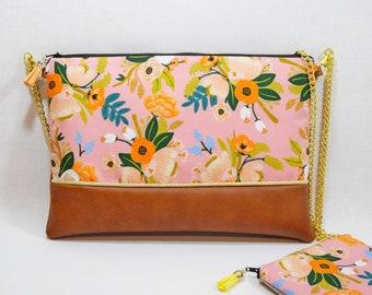 35fa3f6319 Sac à main - pochette Mariage avec chaîne à fleurs - cadeau pour femme -  cadeau moins 50 euros