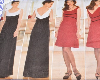 79661bd50701f 1997 Misses  Dress Donna Ricco Sewing Pattern Butterick 5263