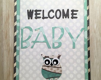 Welcome Baby Card//Handmade Card