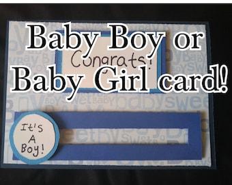 Congratulations Card for a Baby Boy or Baby Girl