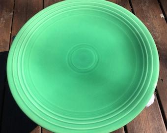 1930's Vintage Rare Fiesta Chop Plate Platter Original Light Green Homer Laughlin Farmhouse Decor Kitchen Wedding Housewarming Christmas