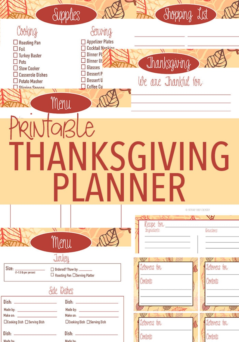 photo relating to Thanksgiving Planner Printable named Printable Thanksgiving Planner - Thanksgiving Supper - Thanksgiving Organizer - Thanksgiving Placecards - Thanksgiving Leftover Labels