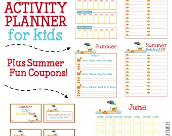 Summer Activity Planner & Summer Fun Coupon Book for Kids