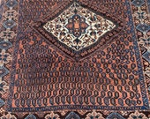 5.2 x 6.3 Incredible Square Antique Village Tribal Rug Layla