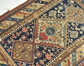 3.2 x 4.5 Charming Old World Caucasian Antique rug Clyde