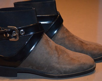 8817ceeb5d1 SHIPPING reduced Zara boots taupe Black Suede