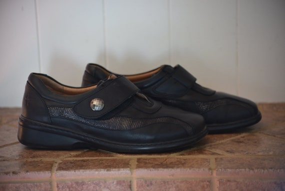 38 Leather Portofino!   Black leather shoes as new