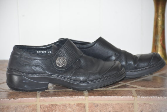 38 Leather! Chunky Josef Seibel black shoes!    Ve