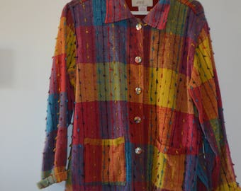 Get 15% off with code NEW15 jacket Boho 90s Plaid!     Cotton M/L