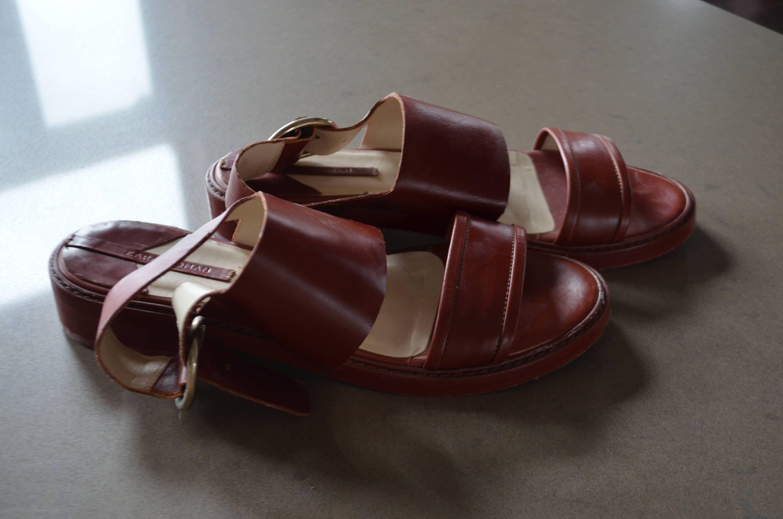 Vintage Sandals Burgundyetsy Flat Zara Wpiozukltx Sale 15 OkXuZPi