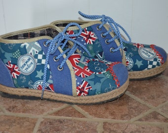Get 15% off with code NEW15 lace-up shoes lined 90's craft / London UK-RARE pattern!   38