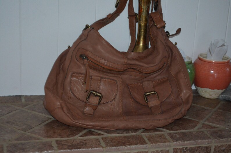 Discounted shipping aldo sack grained leather hands double etsy