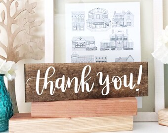 Thank You - Wood Sign - Wood Wedding Sign - Wedding Decor - Farmhouse Decor - Rustic Wedding Decor - Thank You Wood Sign - Rustic Wedding