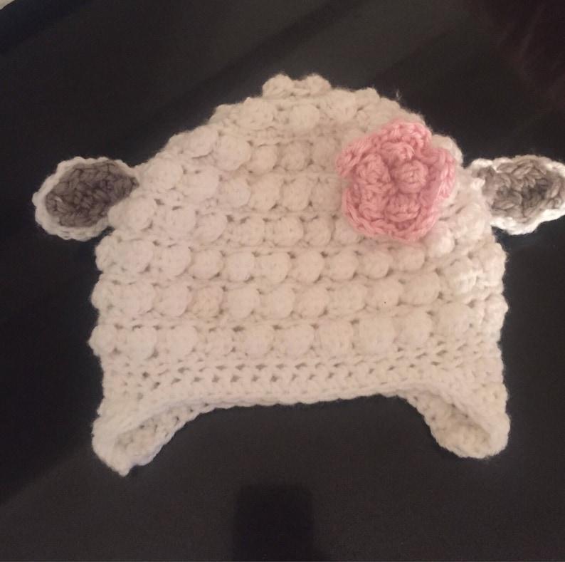 f27e504f90f Lamb hat crochet lamb hat lamb beanie lamb crochet beanie