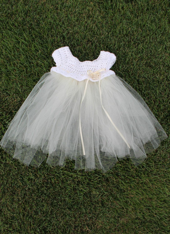 Crocheted Tulle Dress Crochet Tulle Baby Crochet Baby Etsy