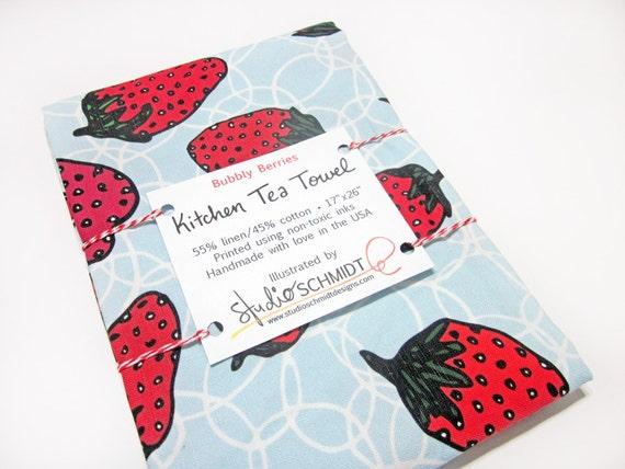Erdbeer-Tee-Handtuch Küche Handtuch Erdbeere Dekor | Etsy