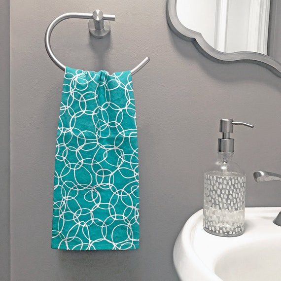 Turquoise Kitchen Towel Hostess Gift For Her Cute Tea Towel Linen Cotton Dish Towel Cute Kitchen Decor Turquoise Towel Kitchen Tea Towel