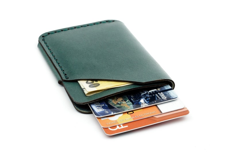 Mens Business Leather Credit Card Holder Mini Wallet ID Case Purse Bag GIFT GW